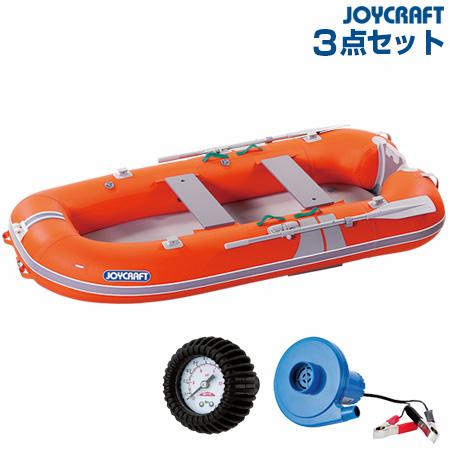 ジョイクラフト KEM-275GS(電動ポンプ+プレッシャーゲージ) ゴムボート4人乗り 2019わくわくセット