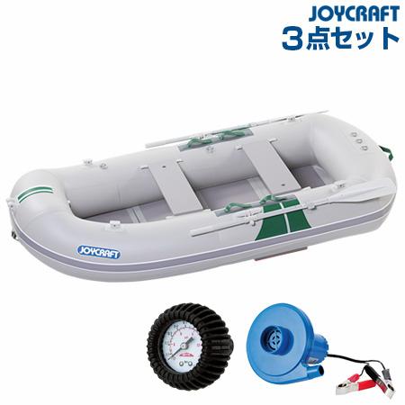 ジョイクラフト KED-270GS(電動ポンプ+プレッシャーゲージ) ゴムボート4人乗り 2019わくわくセット