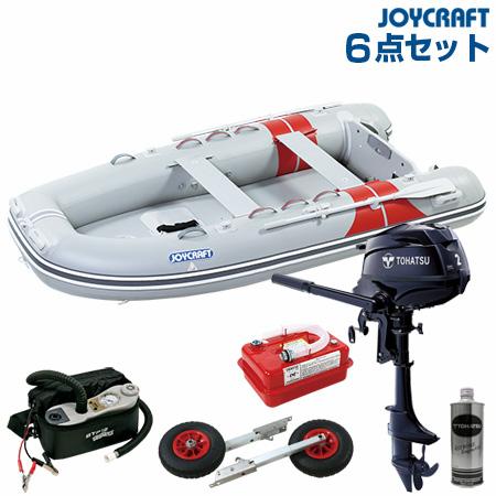 ジョイクラフト ゴムボート船外機セット JEX-315ワイドSSトーハツ2馬力船外機+船外機架台付き 2019わくわくセット