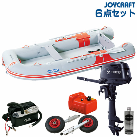ジョイクラフト ゴムボート船外機セット オレンジペコ323ワイドSSトーハツ6馬力船外機 2019わくわくセット