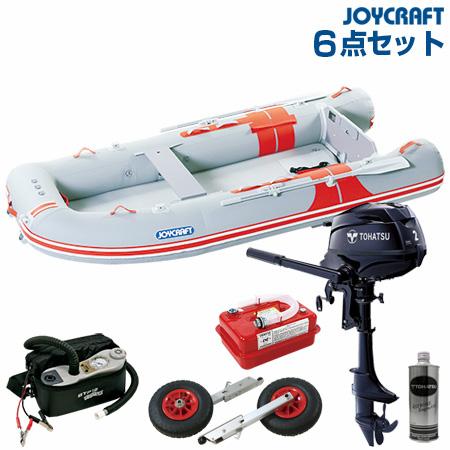ジョイクラフト ゴムボート船外機セット オレンジペコ323ワイドSSトーハツ2馬力船外機+船外機架台付き 2019わくわくセット