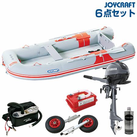 ジョイクラフト ゴムボート船外機セット オレンジペコ323ワイドSSヤマハ2馬力船外機+船外機架台付き 2019わくわくセット