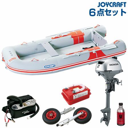 ジョイクラフト ゴムボート船外機セット オレンジペコ323ワイドSSホンダ2馬力船外機+船外機架台付き 2019わくわくセット