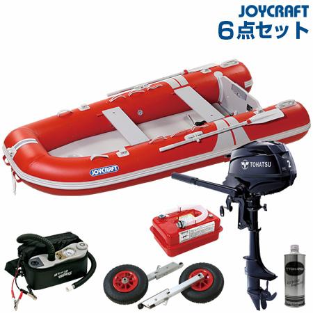 ジョイクラフト ゴムボート船外機セット グランド315SSトーハツ2馬力船外機+船外機架台付き 2019わくわくセット