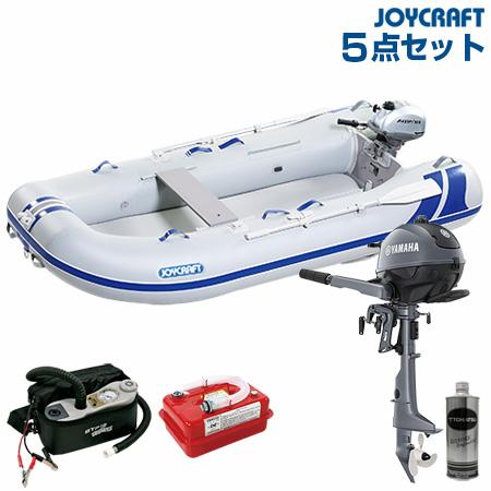 ジョイクラフト ゴムボート船外機セット ブルーサファイア295SSヤマハ2馬力船外機+ランチングホイール付き 2019わくわくセット