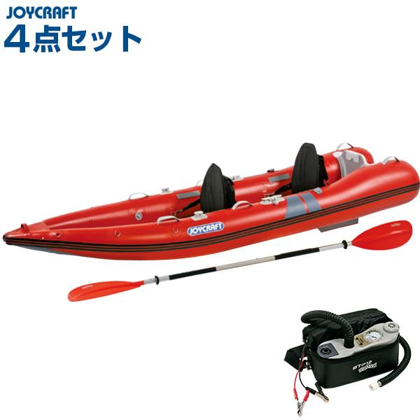ジョイクラフト カヤック340(パドル・シートセット) 2人乗りゴムボート HSセット