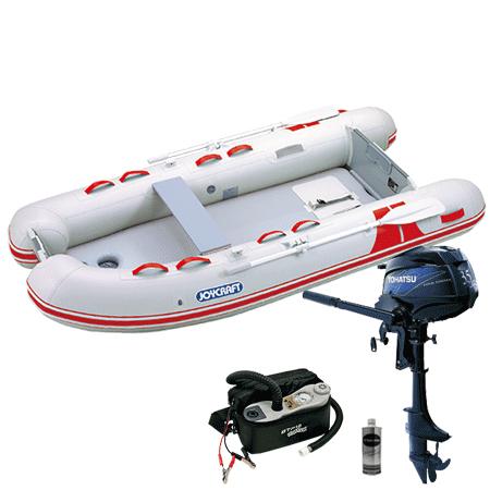 ゴムボート4人乗り 船外機セット ジョイクラフト BBS-295(予備検査付)+トーハツ3.5馬力4ストローク船外機