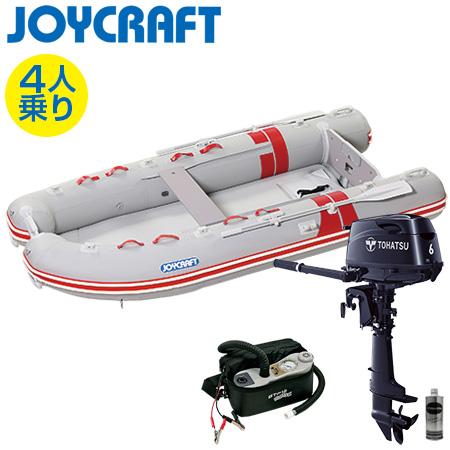 ゴムボート4人乗り 船外機セット ジョイクラフト BBS-315(予備検査付)+トーハツ6馬力4ストローク