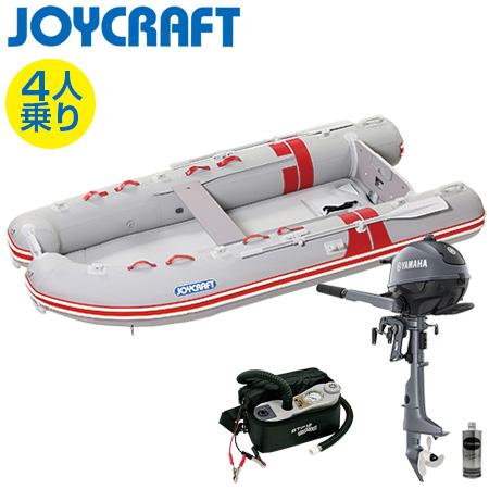 ゴムボート4人乗り 船外機セット ジョイクラフト BBS-315(予備検査付)+ヤマハ2馬力4ストローク船外機