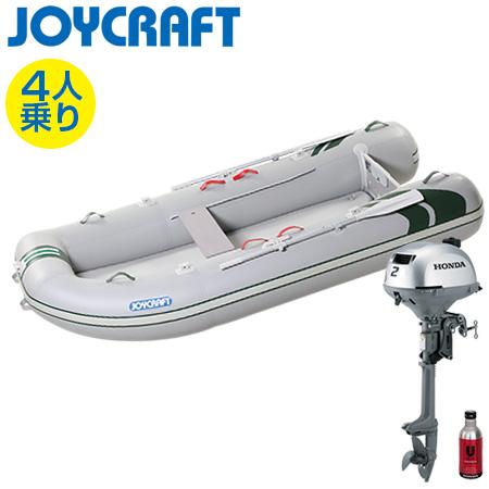 ゴムボート4人乗り 船外機セット ジョイクラフト J-キャット305(超高圧電動ポンプ無)+ホンダ2馬力4ストローク船外機