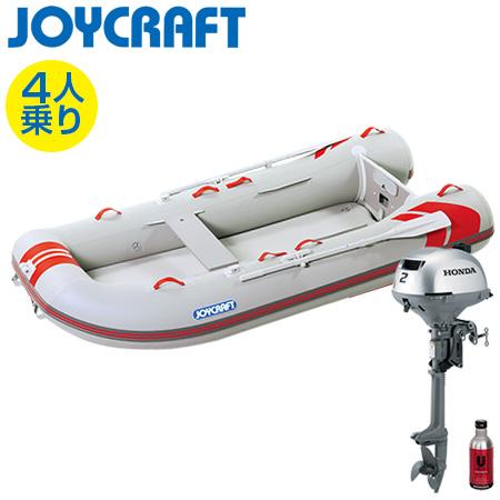ゴムボート4人乗り 船外機セット ジョイクラフト レッドキャップ300(超高圧電動ポンプ無)+ホンダ2馬力4ストローク船外機
