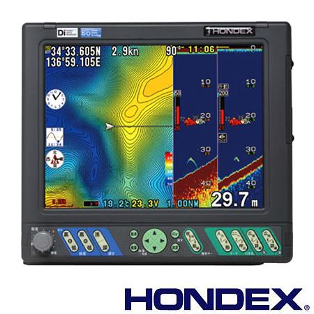 ホンデックス(HONDEX) 魚群探知機 HE-10S〈カラー液晶プロッターデジタル魚探〉