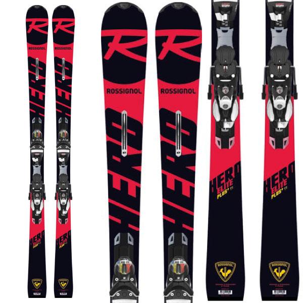 クーポン利用で10%OFF!2/17AMまで!ROSSIGNOL ロシニョール 19-20 スキー 2020 HERO ELITE PLUS Ti + (SPX12 Konect 金具付き) ヒーローエリートプラス Ti スキー板 :RAHLB01-l