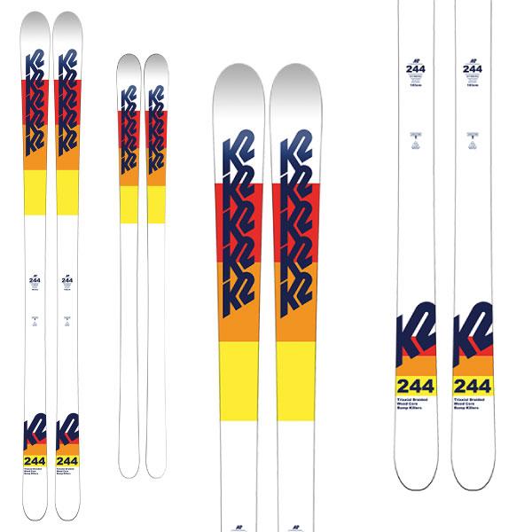 クーポン利用で10%OFF!K2 ケーツー 19-20 スキー 244(板のみ) スキー板 2020 モーグル フリースタイル (onecolor):