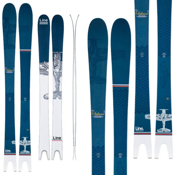 ポイント10倍!5/11 11:59までLINE ライン 19-20 スキー SAKANA サカナ (板のみ) スキー板 2020 パウダー ロッカー (onecolor):