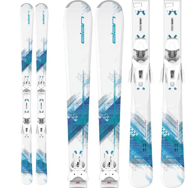クーポン利用で10%OFF 8/9まで ELAN エラン 19-20 スキー 2020 ZEST BLUE Light Shift ゼストブルー (金具付き) オールラウンド スキー板 レディース (onecolor):