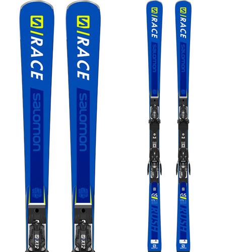 クーポン利用で10%OFF!SALOMON サロモン 19-20 スキー 2020 S/RACE RUSH GS P80 レースラッシュ (金具付き) スキー板 レーシング デモ ロング (onecolor):