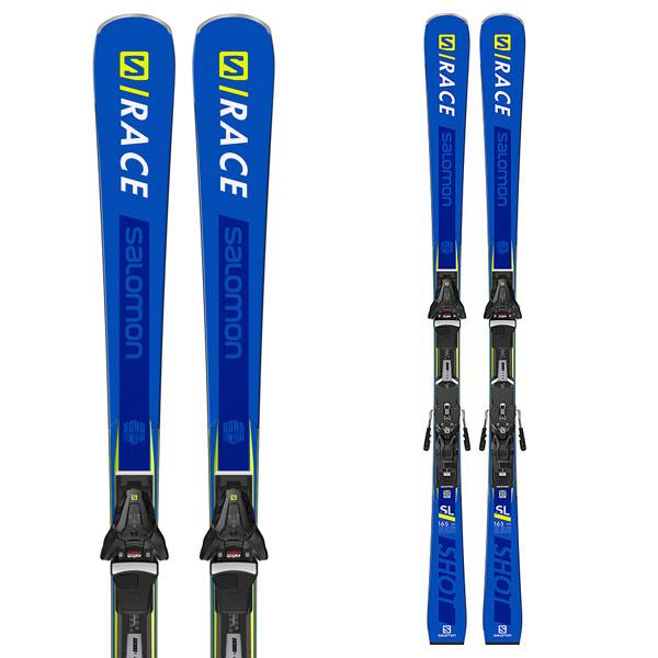 サマーセール・ポイント10倍! 【8月2日16:00~8月10日11:59まで】SALOMON サロモン 19-20 スキー 2020 S/RACE SHOT SL レースショット (金具付き) スキー板 デモ ショート (onecolor): [SKI]