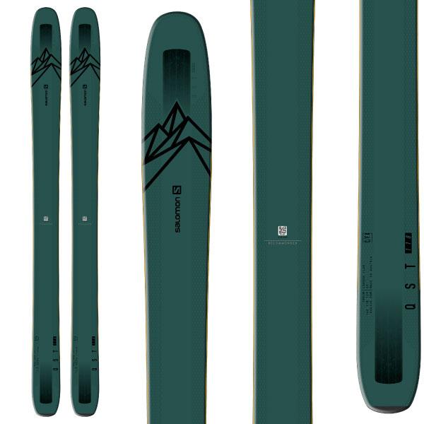 ポイント10倍!5/11 11:59までSALOMON サロモン 19-20 スキー 2020 QST 118 クエスト 118 (板のみ) スキー板 パウダー ロッカー (onecolor):
