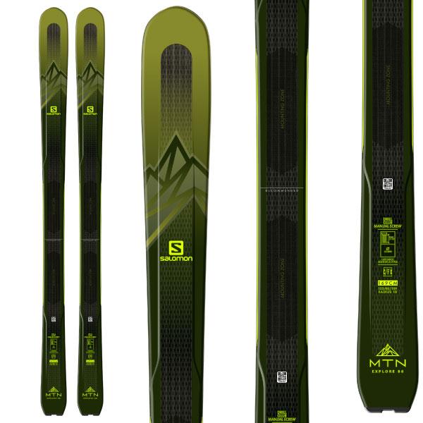 サマーセール・ポイント10倍! 【8月2日16:00~8月10日11:59まで】SALOMON サロモン 19-20 スキー 2020 MNT EXPLORE 88 (板のみ) スキー板 オールマウンテン (onecolor): [SKI]