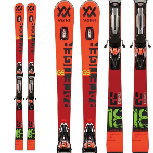 クーポン利用で10%OFF!VOLKL フォルクル 19-20 スキー 2020 RACETIGER レースタイガー GS DEMO (金具付き) スキー板 レーシング デモ ロング (onecolor):