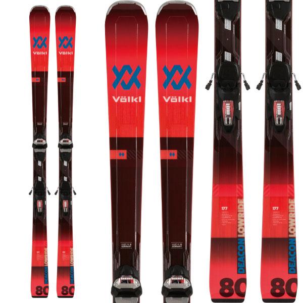 クーポン利用で10%OFF!VOLKL フォルクル 19-20 スキー 2020 DECON 80 ディーコン 80 (金具付き) スキー板 オールマウンテン (onecolor):