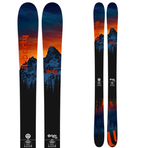 ポイント10倍!5/11 11:59までLibarty リバティ 19-20 スキー 2020 ORIGIN 106 オリジン 106 (板のみ) スキー板 パウダー ロッカー: