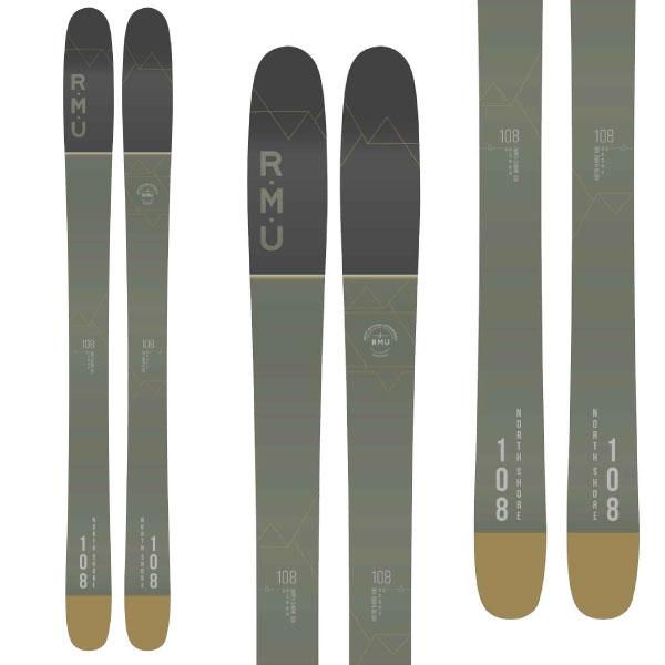 クーポン利用で10%OFF 8/26まで! RMU アールエムユー 19-20 スキー 2020 NORTH SHORE 108 ノースショア (板のみ) スキー板 パウダー ロッカー: