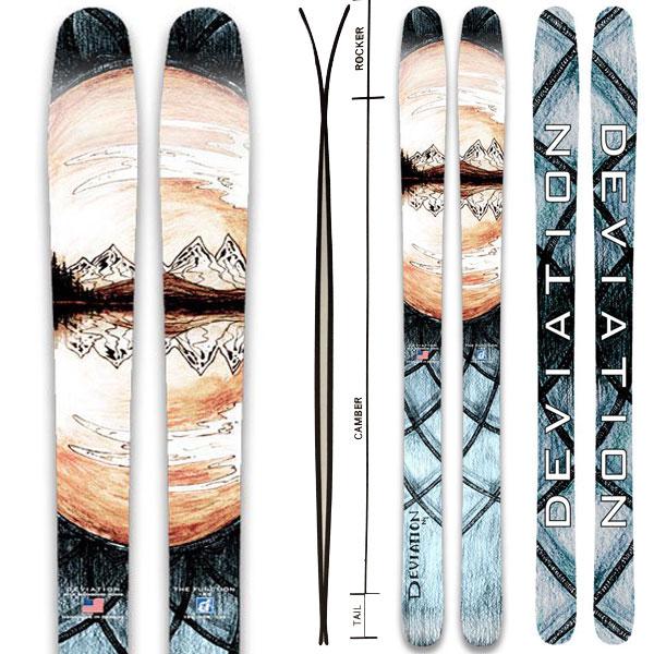 ポイント10倍!5/11 11:59までDEVIATION ディビエイション 19-20 スキー 2020 THE FUNCTION (板のみ) スキー板 パウダー ロッカー: