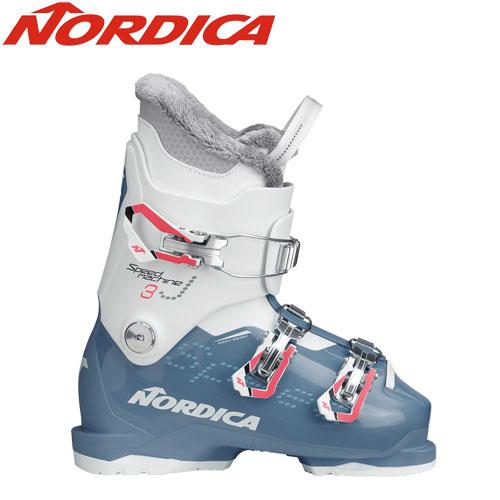 NORDICA ノルディカ 19-20 スキーブーツ 2020 SPEEDMACHINE J3 GIRL スピードマシーン ジュニア スキーブーツ (BL-WHT):