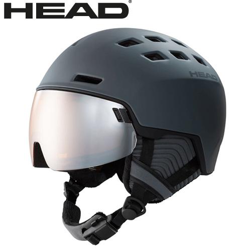 ポイント10倍!5/11 11:59までHEAD ヘッド 19-20 ヘルメット RADAR col:Gley スキー スノーボード ヘルメット バイザー付:323419 [34SS_HEL]
