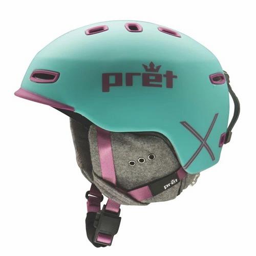 ポイント10倍!5/11 11:59までPret プレット 17-18 ヘルメット Lyric X Teal リリックエックス スキーヘルメット HELMET 2018 : [34SS_HEL]