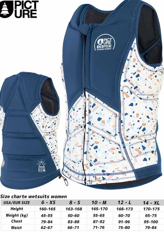 PICTURE ピクチャー AMITA IMPACT VEST ZIP 20SS Women ライフジャケット レディース SUP インパクトベスト :WVT176