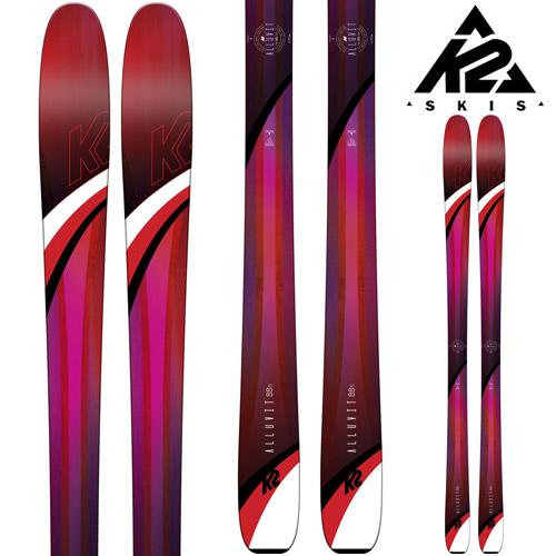 クーポン利用で10%OFF!K2 ケーツー 18-19 スキー Ski 2019 ALLUVIT 88 TI アルラビット 88ti (板のみ) パウダー ロッカー オールマウンテン レディース: 「0604SKI」