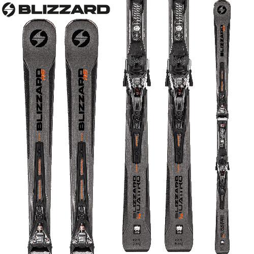 [クーポン利用で10%OFF!4/8まで] BLIZZARD ブリザード 18-19 ski 2019 スキー QUATTRO RS + XCELL12 DEMO (金具付き) レーシング 基礎 (-):
