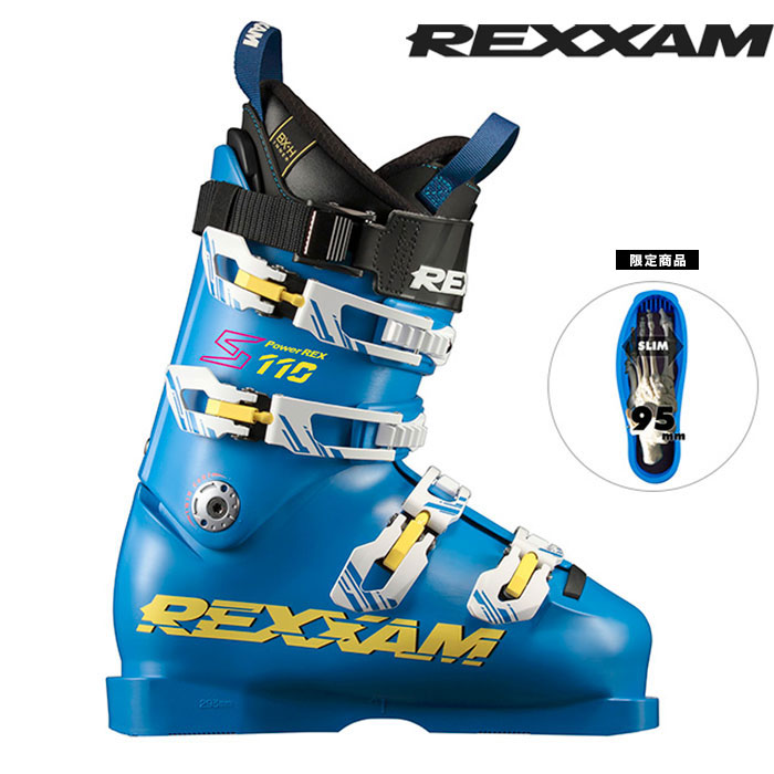 ポイント10倍!5/11 11:59まで18-19 REXXAM レクザム スキーブーツ Power REX-S110 パワーレックスS110(BX-Hインナー)〔2019 限定商品 レース 基礎スキー 〕 (BLUE):X1JA-725 [34SSブーツ]