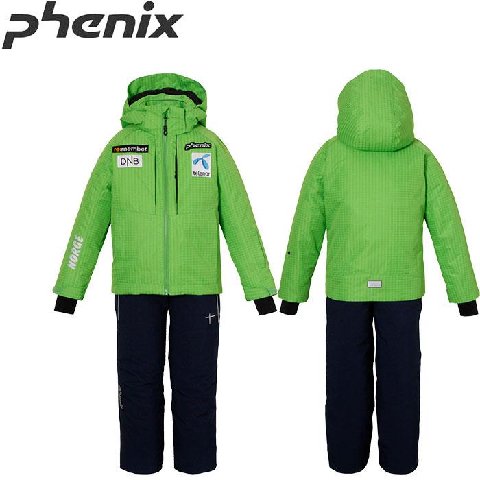 [クーポン利用で10%OFF!4/8まで] PHENIX フェニックス NORWAY TEAM KID'S 2PIECE ジュニア スキーウェア 上下セット 旧モデル お買い得 40%OFF [pt0] (YG):PS7G22P70