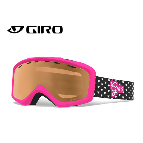 クーポン利用で10%OFF!GIRO ジロー 19-20 ゴーグル 2020 GRADE HEARTS グレード スキーゴーグル ジュニア 平面 眼鏡対応:7105424