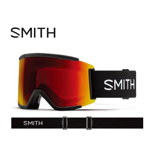 クーポン利用で10%OFF!SMITH スミス 19-20 ゴーグル 2020 Squad XL Black スカッドエックスエル スキーゴーグル 平面 クロマポップ 全天候対応:010260110