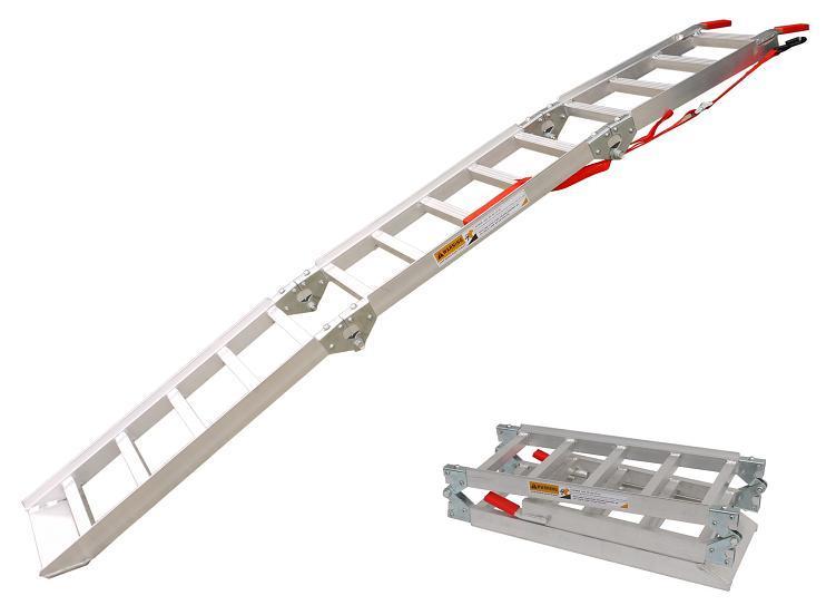 イリイ 3段折畳みアルミスロープ湾曲型耐荷重270kg