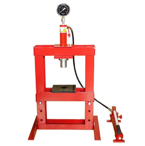 イリイ 10ton油圧プレス ショッププレス圧力計付き10,000kg