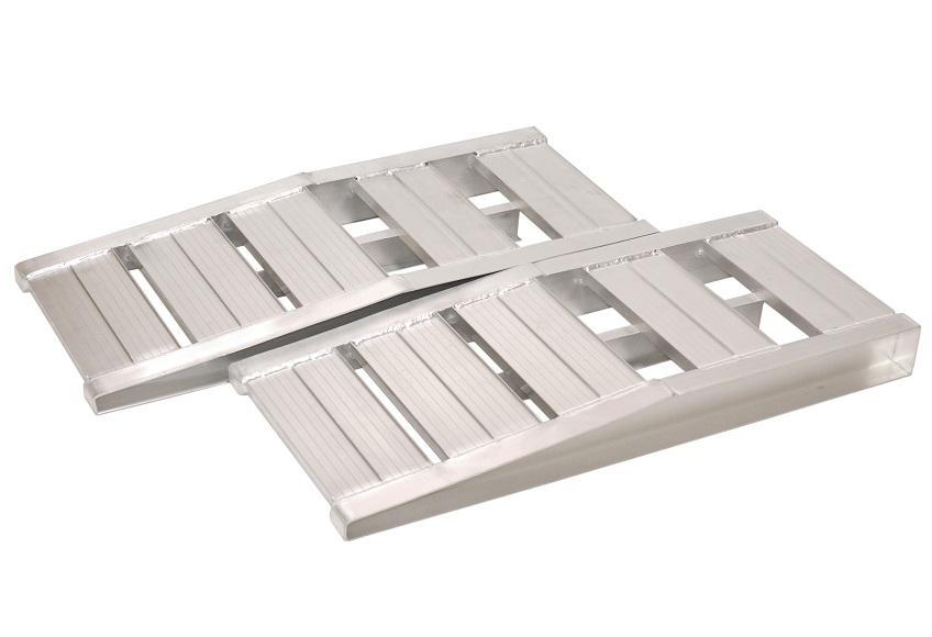 イリイ ジャッキアップ用 ロングアルミステップ耐荷重1.5ton 2基セットアルミスロープ