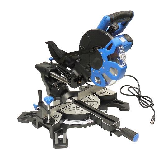 イリイ Φ210mm レーザー付き木工用スライド丸ノコ、集塵機能付き