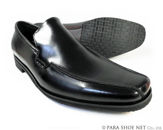 Christian Carano(クリスチャン カラノ)本革 ヴァンプ スリッポン ビジネスシューズ 黒 3E(EEE)~4E(EEEE) 27.5cm、28cm(28.0cm)、28.5cm、29cm(29.0cm)、29.5cm、30cm(30.0cm)/大きいサイズ・メンズ・革靴・紳士靴