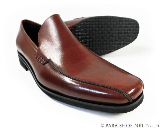 Christian Carano(クリスチャン カラノ)本革 ヴァンプ スリッポン ビジネスシューズ 茶色 ワイズ3E(EEE)~4E(EEEE) 27.5cm、28cm(28.0cm)、28.5cm、29cm(29.0cm)、29.5cm、30cm(30.0cm)/大きいサイズ(ビッグサイズ)革靴・紳士靴