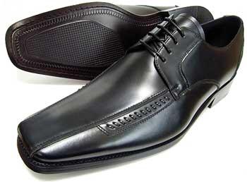 ANTONIO DUCATI 革底 ロングノーズ スワールモカ ビジネスシューズ 黒 3E(EEE)27.5cm、28cm(28.0cm)、29cm(29.0cm)、30cm(30.0cm)/大きいサイズ・メンズ・革靴・紳士靴
