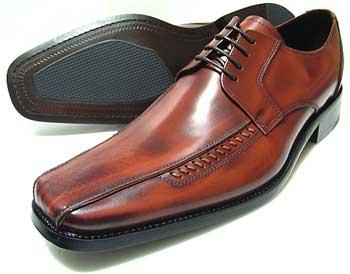 ANTONIO DUCATI 革底 ロングノーズ スワールモカ ビジネスシューズ 茶色 3E(EEE)27.5cm、28cm(28.0cm)、29cm(29.0cm)、30cm(30.0cm)/大きいサイズ・メンズ・革靴・紳士靴