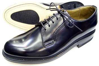 TUFF(タフ)British Classic 本革底 プレーントウ ビジネスシューズ 黒 ワイズ(幅)3E(EEE)27.5cm、28cm(28.0cm)、29cm(29.0cm)/大きいサイズ・革靴・紳士靴