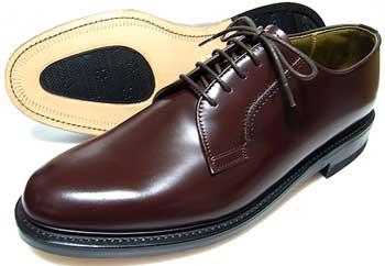 TUFF(タフ)British Classic 本革底 プレーントウ ビジネスシューズ ダークブラウン(濃茶色)ワイズ(幅)3E(EEE) 27.5cm、28cm(28.0cm)、29cm(29.0cm)/大きいサイズ・革靴・紳士靴