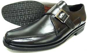 人間讃歌 KANSAI YAMAMOTO 本革 モンクストラップ ビジネスシューズ 黒 3E(EEE)~4E(EEEE)27.5cm、28cm(28.0cm)、28.5cm、29cm(29.0cm)、29.5cm、30cm(30.0cm)/大きいサイズ・メンズ・革靴・紳士靴